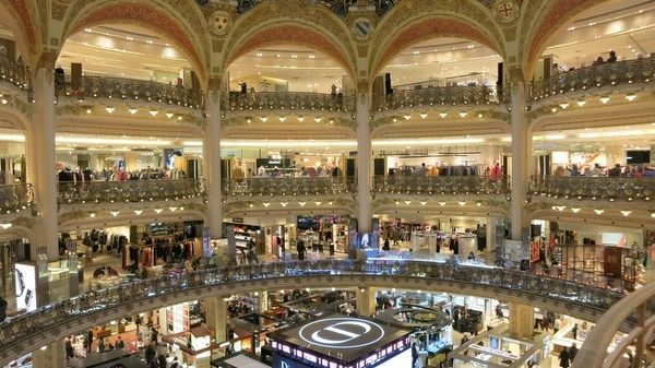 <strong><em>A View of Galeries Lafayette, One of the Most Famous Shopping Malls in Paris</em></strong>