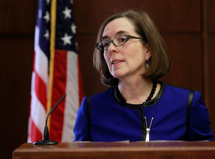 Oregon Gov. Kate Brown (D) leads one of eight states that has legalized recreational marijuana.She's ready to take up P