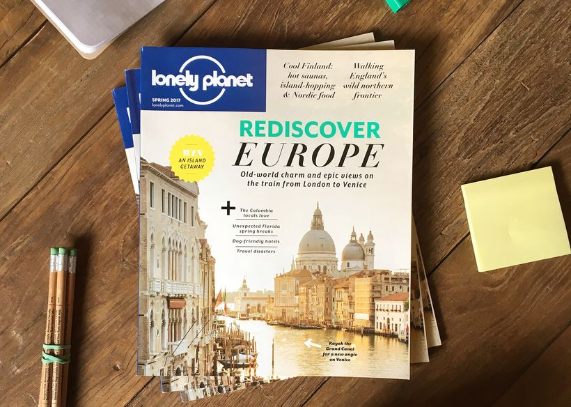 <em>Lonely Planet</em> magazine's Spring 2017 issue, on newsstands now.