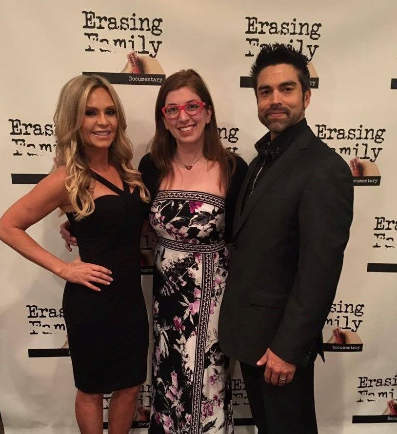 Tamra Judge, Erasing Family Director Ginger Gentile and husband Eddie Judge at Erasing Family Gala