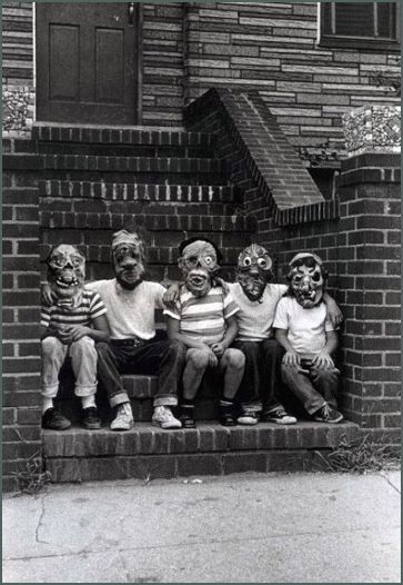 Five members of The Monster Fan Club, N.Y.C., 1961