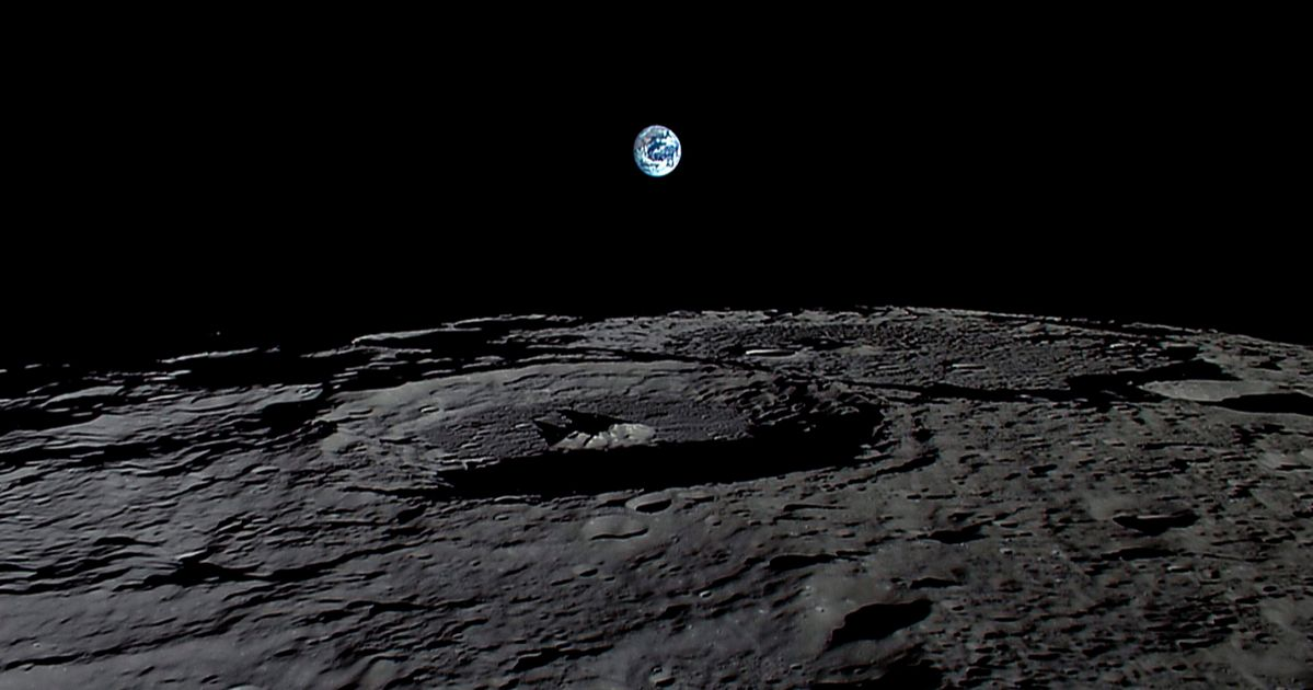 earth from the moon - HD1680×859