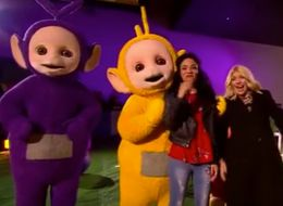 Holly Willoughby Gets Up Close And Personal With The Teletubbies' Hoover On 'The One Show'