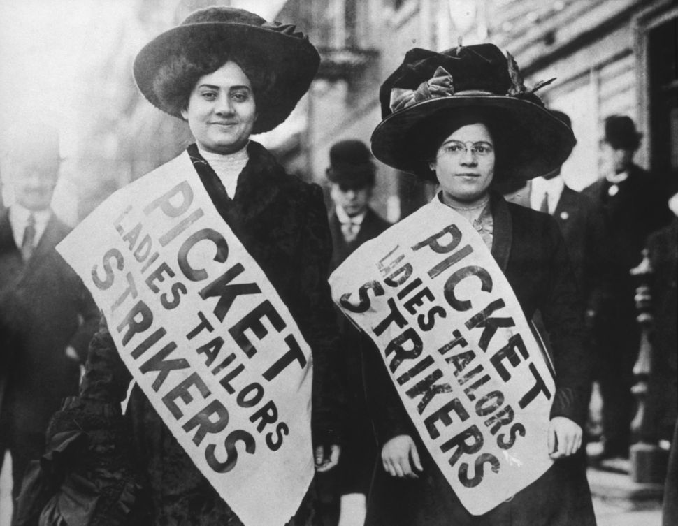 Two Garment Workers Picketing, circa 1909.