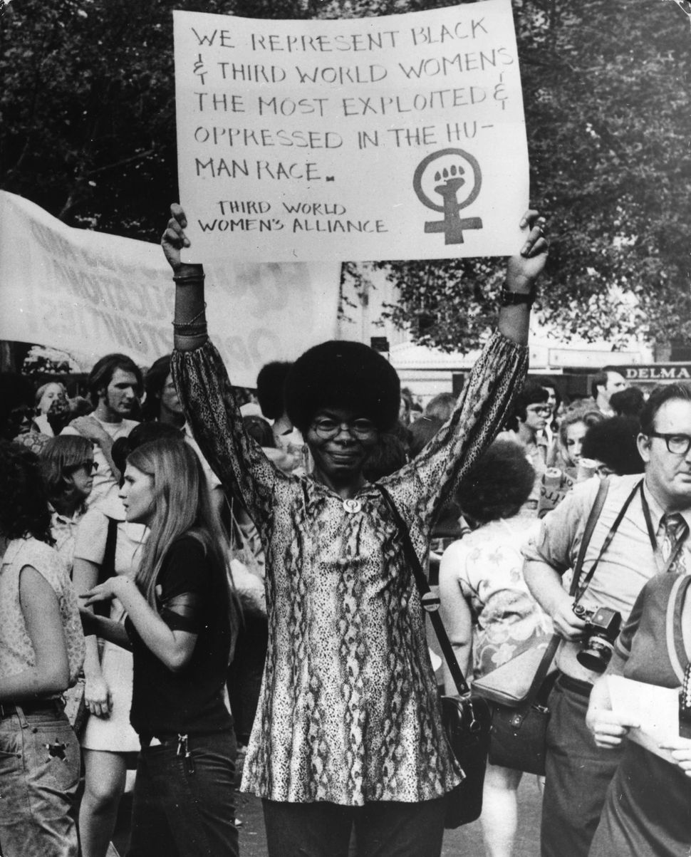 A women's liberation demonstration in New York on Aug. 26, 1970.