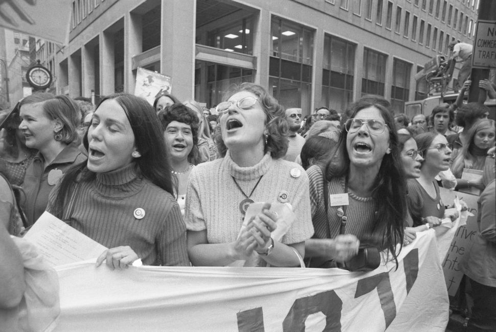 The Women's Rights Movement marked the 51st anniversary of women's suffrage with a series of profile-raising demonstrations h