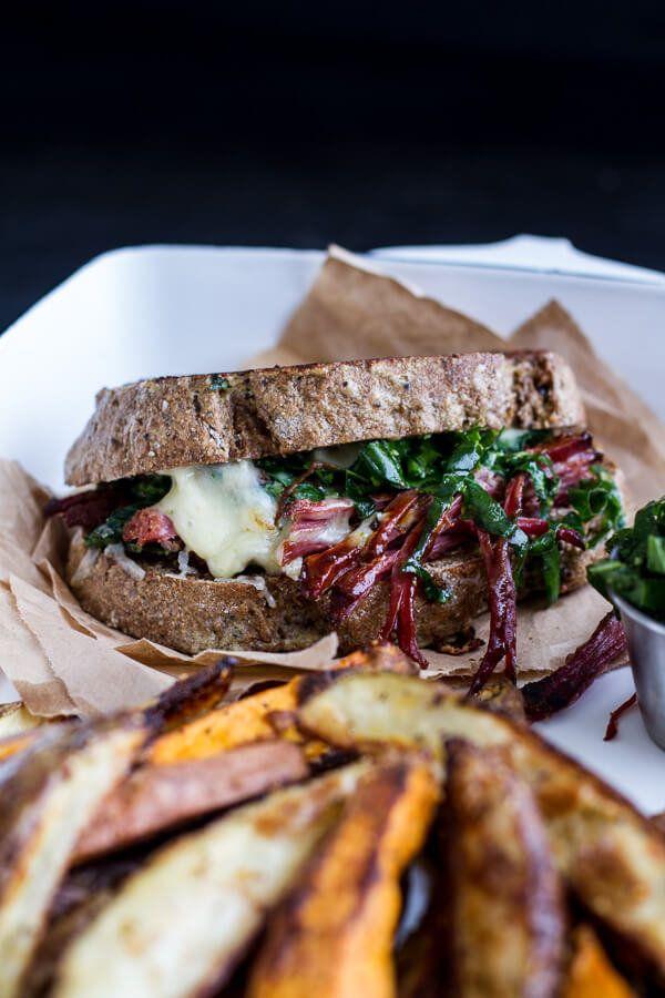 "<strong>Get the <a href=""https://www.halfbakedharvest.com/savory-corn-beef-brisket-irish-cheddar-french-toast-kale-pesto-slaw"