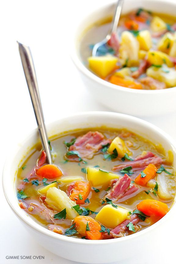 """<strong>Get the <a href=""""http://www.gimmesomeoven.com/slow-cooker-corned-beef-and-cabbage-soup/"""" target=""""_blank"""">Slow Cooker"""