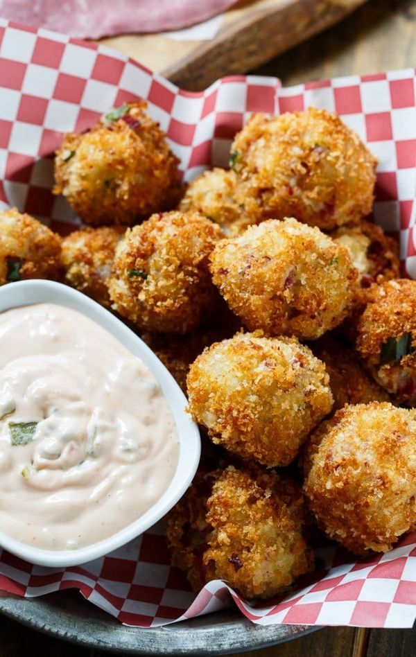 """<strong>Get the <a href=""""http://spicysouthernkitchen.com/reuben-fritters/"""" target=""""_blank"""">Reuben Fritters recipe</a>fr"""