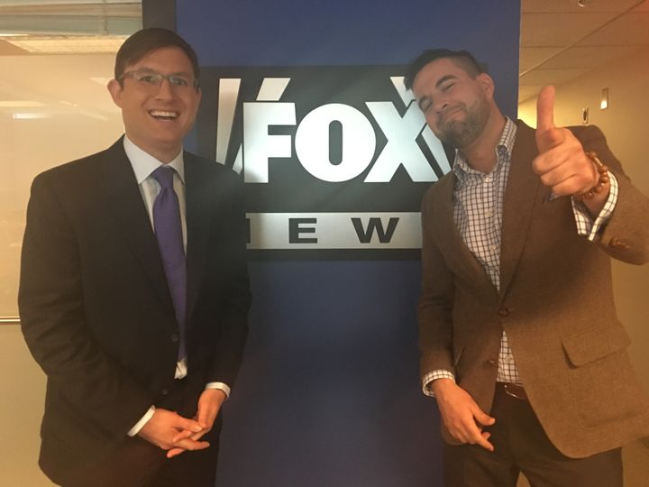 Paustenbach and Pablo at the Fox News bureau on Capitol Hill in Washington, D.C.