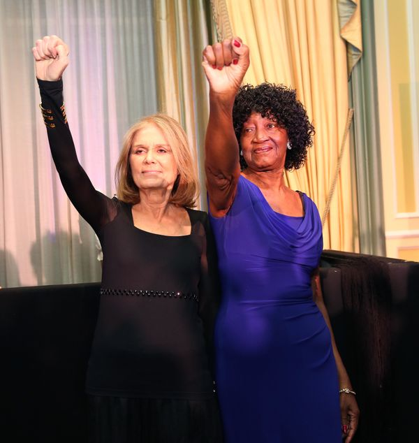 """Here, longtime friends and feminist activists Gloria Steinem and author Dorothy Pitman Hughes recreate <a href=""""https://s-med"""