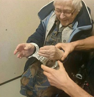 99-Year-Old Woman Gets 'Arrested' As Part Of Her Bucket List, Loves Every