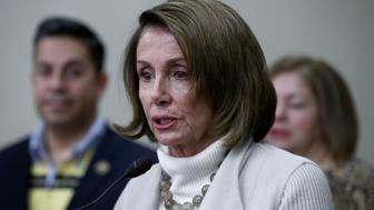 BALTIMORE, MD - FEBRUARY 08:  House Minority Leader Nancy Pelosi (D-CA) delivers remarks at an opening news conference during the House Democratic caucus 'Issues Conference' on February 8, 2017 in Baltimore, Maryland. During the conference, House Democrats are expected to discuss party strategy for opposing issues promoted by their Republican counterparts and U.S. President Donald Trump.  (Photo by Win McNamee/Getty Images)