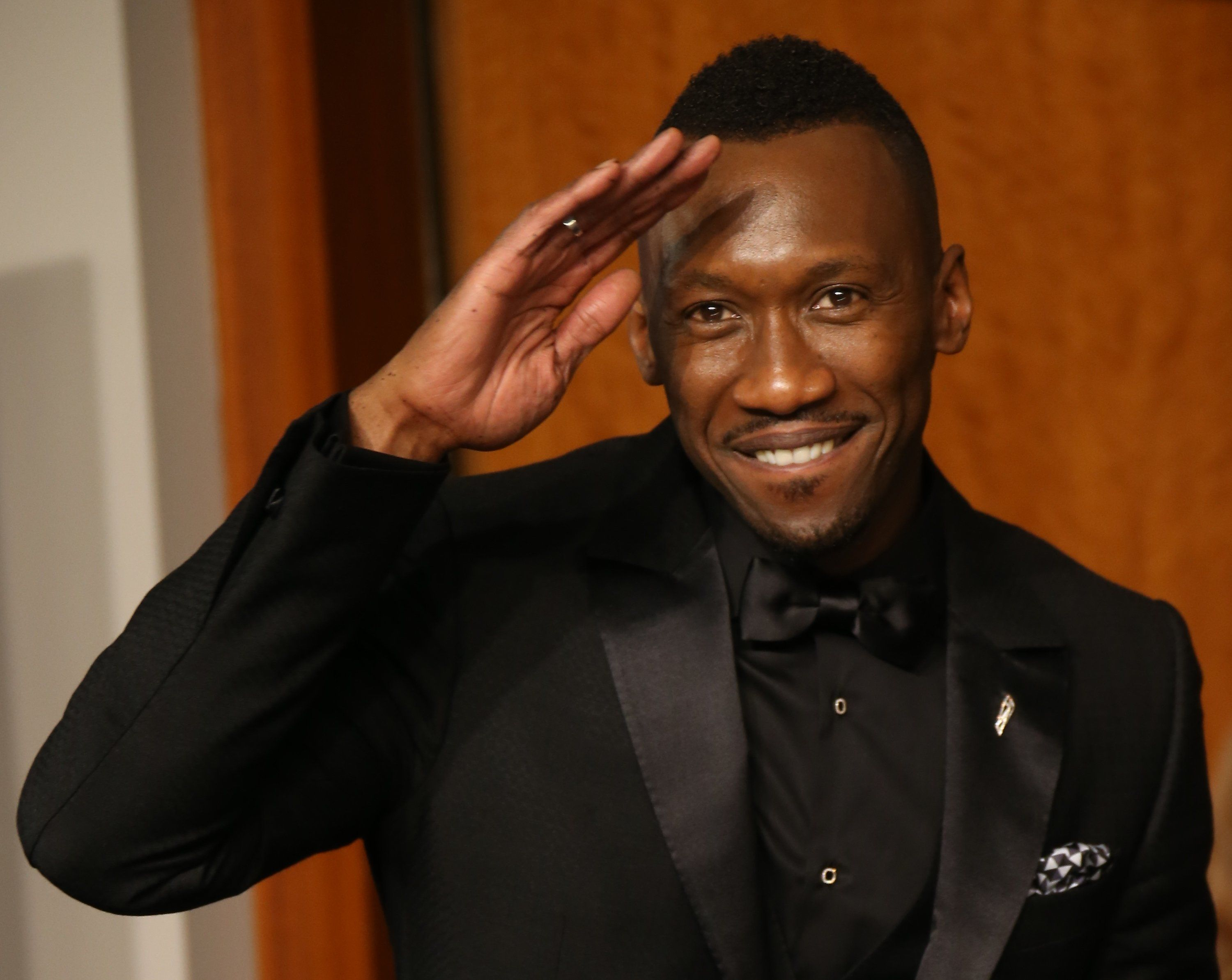 HOLLYWOOD, CA - FEBRUARY 26: Actor Mahershala Ali, winner of the award for Actor in a Supporting Role for 'Moonlight,' poses in the press room at the 89th Annual Academy Awards at Hollywood & Highland Center on February 26, 2017 in Hollywood, California. (Photo by Dan MacMedan/Getty Images)