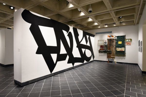 Faust . Curve. <em>All Big Letters</em> curated by RJ Rushmore at Haverford College's Cantor Fitzgerald Gallery. Philadephia,