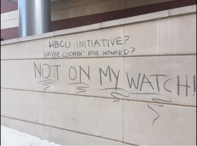 Graffiti on Howard Universitys campus
