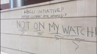 Graffiti on Howard Universitys campus