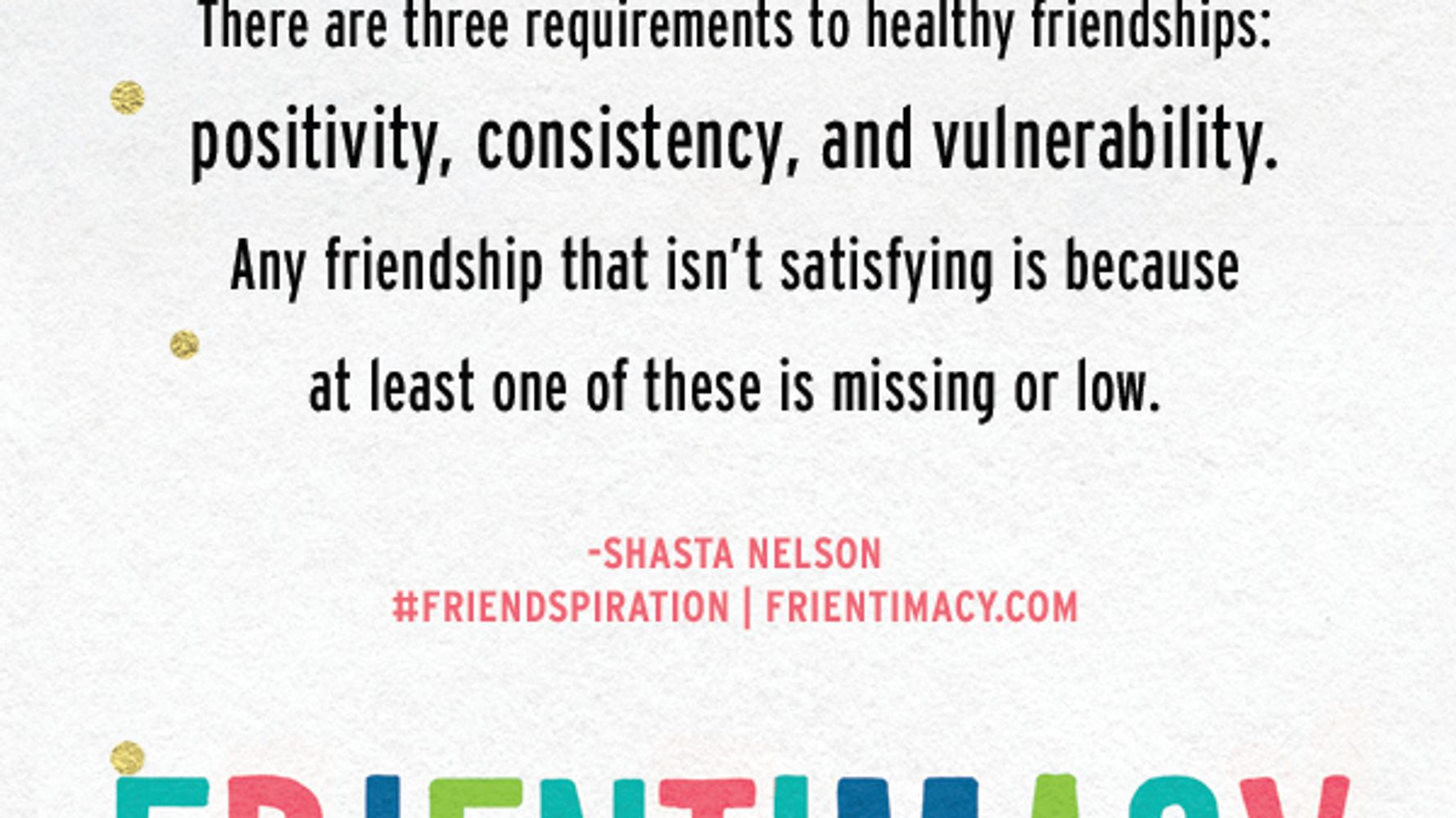 The 3 Requirements of All Healthy Friendships