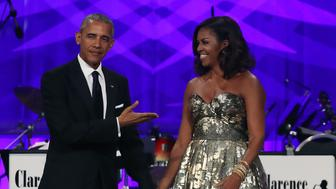 WASHINGTON, DC - SEPTEMBER 17: President Barack Obama and First Lady Michelle Obama arrive to address the Congressional Black Caucus Foundation's 46th Annual Legislative Conference Phoenix Awards Dinner, September 17 2016, in Washington, DC. (Photo by Mark Wilson/Getty Images)