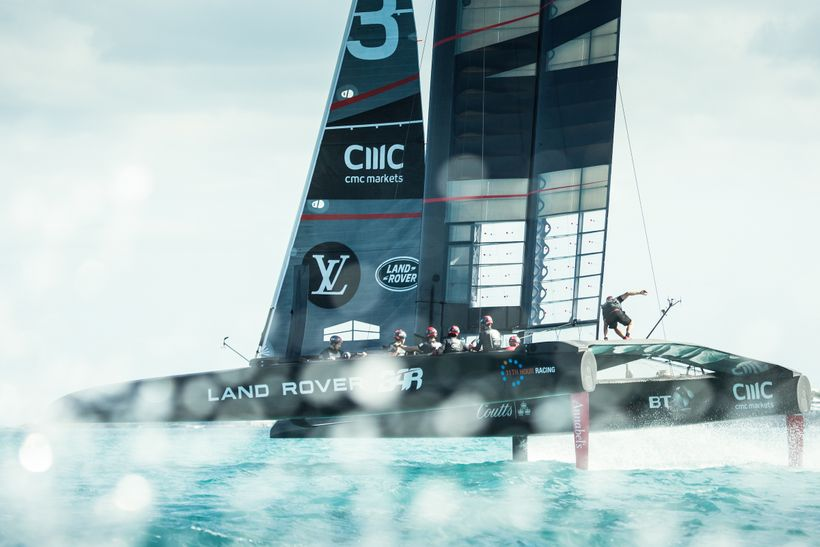 R1 - the team's America's Cup Class race boat