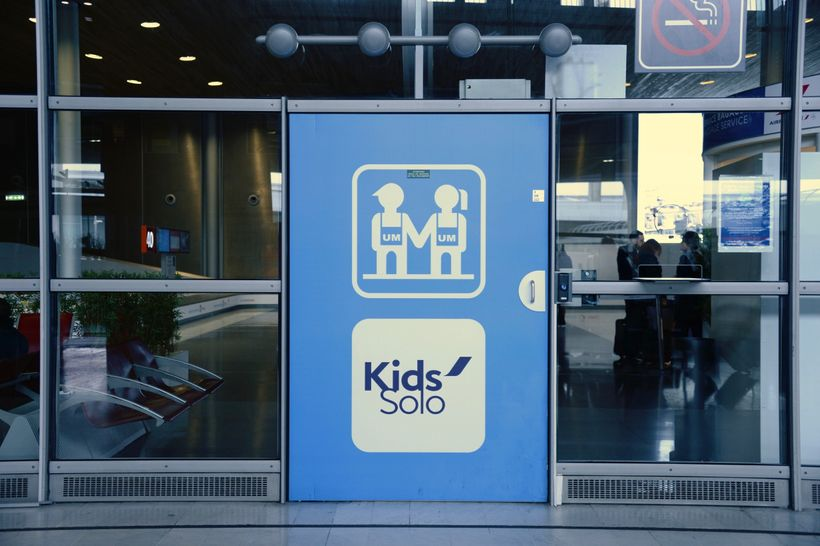 Lounges for kids flying solo include fussboll tables and Playstations.