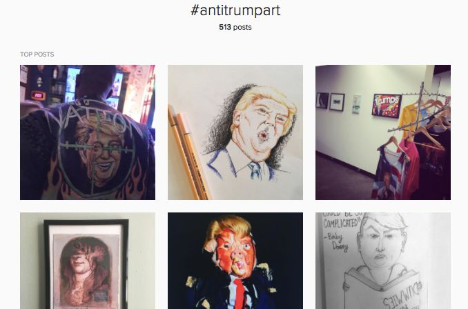 Top posts with the hashtag #antitrumpart