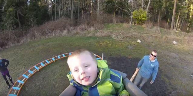 navy pilot builds awesome backyard roller coaster for 3 year old