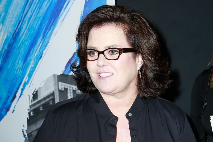 Rosie O'Donnell, pictured here attending a musical on Feb. 23, spoke to an anti-Trump rally on Feb. 28, 2017.