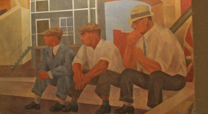 <em>Unemployment</em> by Ben Shahn (detail from a mural)