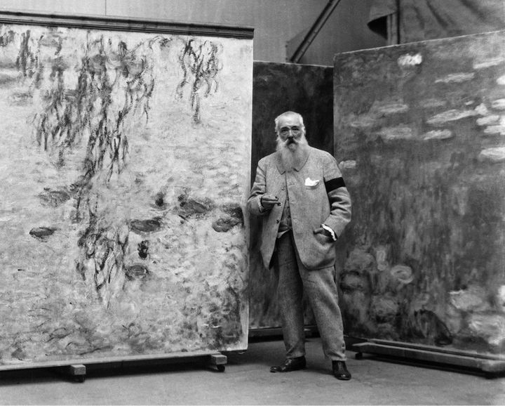 Monet in his studio.
