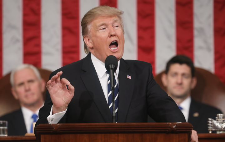 President Donald Trump appealed to Congress to work together to get things done, despite the fact that he's accused lawm
