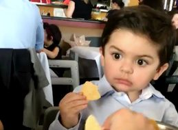 Little Boy's Reaction When Someone Tries To Nick His Food, Is All Of Us