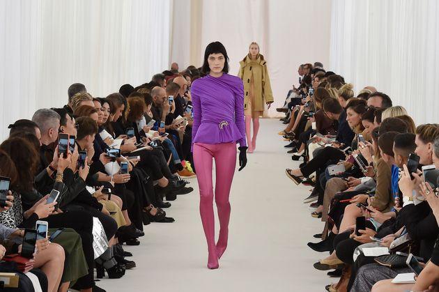 The Balenciaga Spring Summer 2017 Paris Fashion Week show on 2 October