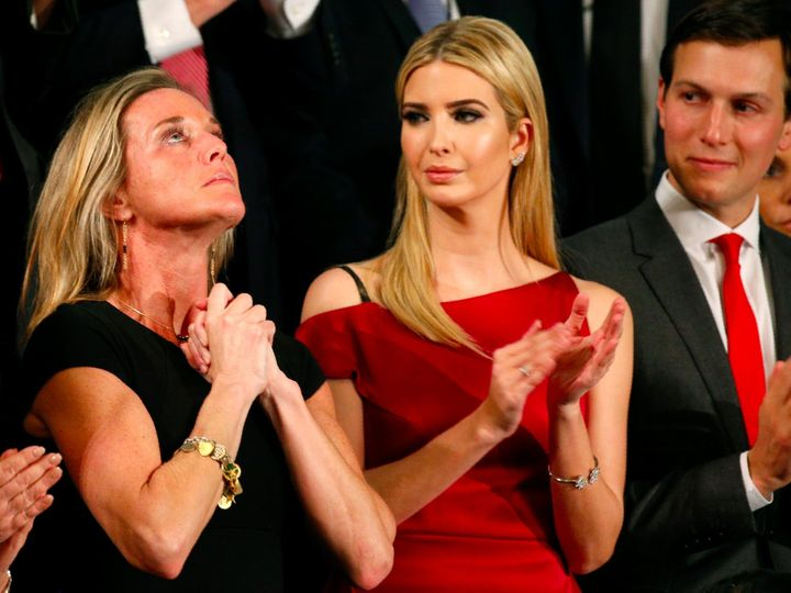 "Carryn Owens, wife of the slain Navy SEAL in the Yemen raid that many are calling ""botched"" and was authorized by Donald Trum"