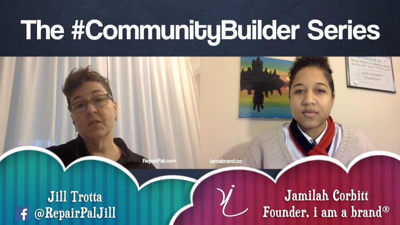Episode 5 of The #CommunityBuilder Series featuring Jill Trotta