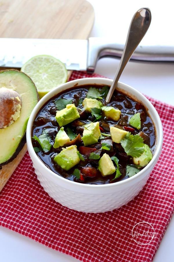 """<strong>Get the <a href=""""http://www.apinchofhealthy.com/instant-pot-black-bean-soup/"""" target=""""_blank"""">Instant Pot Black Bean"""
