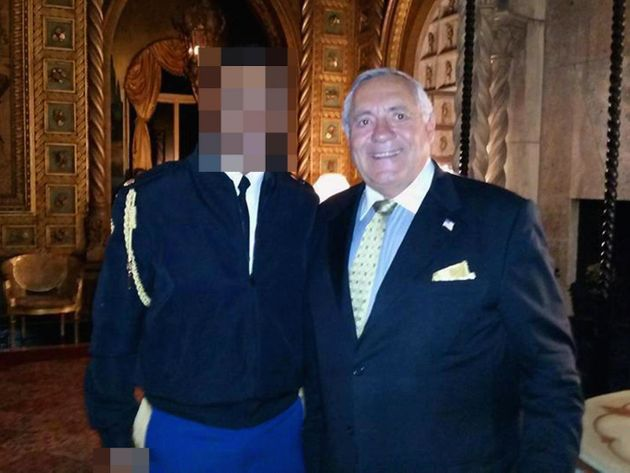 A Mar-a-Lago guest and the officer in question with the nuclear