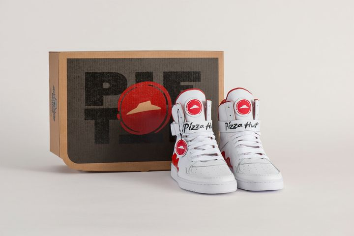 Pizza Hut has introduced the Pie Tops, a style of shoe that allows wearers to order pizza by pressing a button on the right s