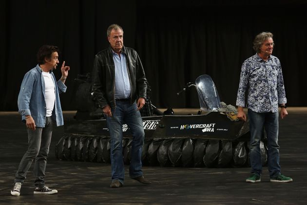 Jeremy Clarkson with co-hosts Richard Hammond and James