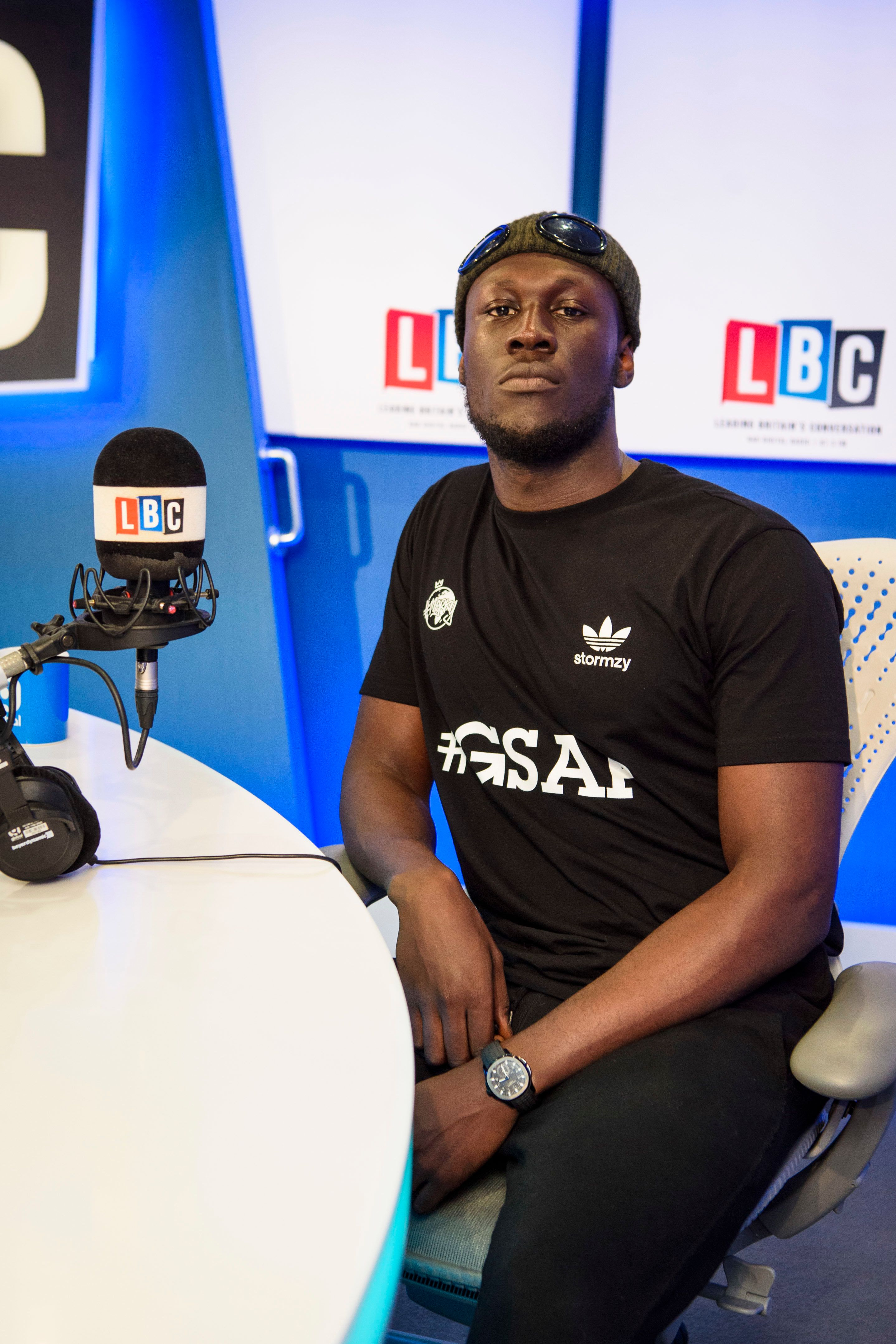Stormzy in the LBC