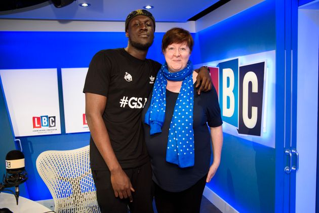 Stormzy and Shelagh, who took the call in
