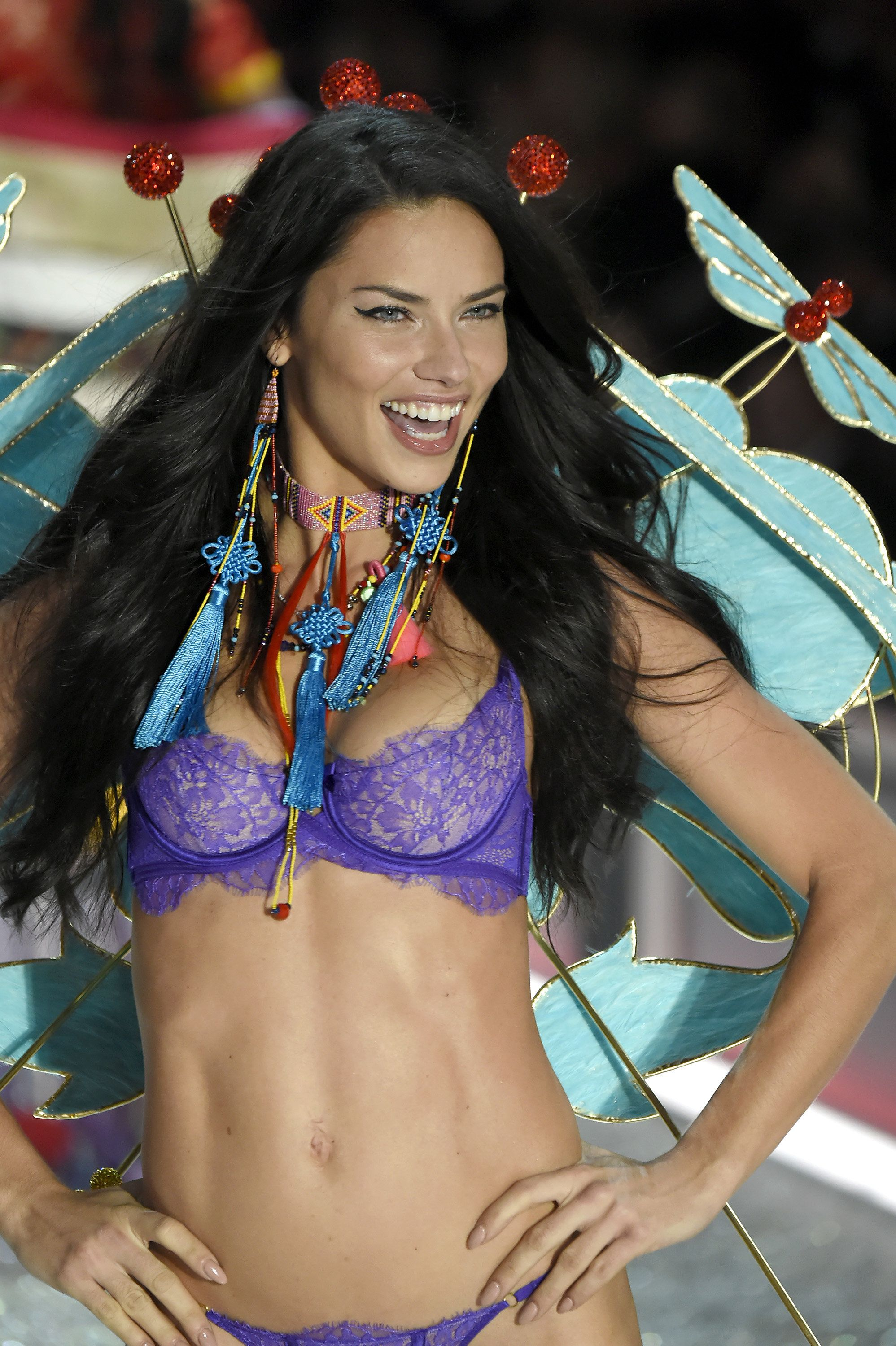 PARIS, FRANCE - NOVEMBER 30:  Adriana Lima walks the runway during the Victoria's Secret Fashion Show on November 30, 2016 in Paris, France.  (Photo by Kristy Sparow/WireImage)