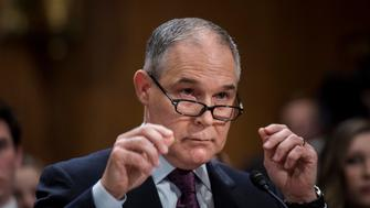 WASHINGTON, DC - President-elect Donald Trump's nominee to be the Administrator of the Environmental Protection Agency Scott Pruitt appears before the Senate Environment and Public Works Committee for his confirmation hearing on Capitol Hill in Washington, DC Wednesday January 18, 2017. (Photo by Melina Mara/The Washington Post via Getty Images)