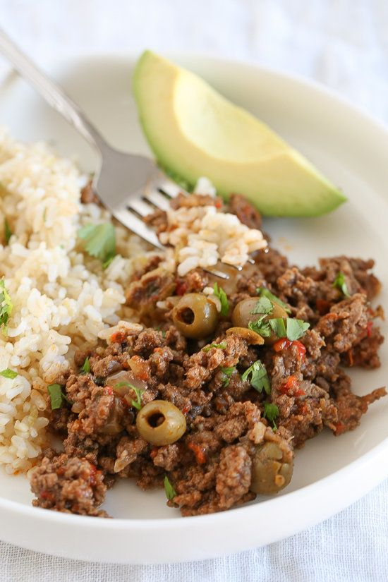 "<strong>Get the <a href=""http://www.skinnytaste.com/instant-pot-picadillo/"" target=""_blank"">Instant Pot Picadillo recipe</a>&"