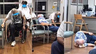 A photo taken inside of a North Carolina veterans hospital is raising concern over the treatment of its patients