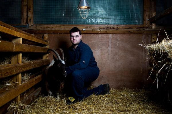 """I dream of being a farmer,"" Scott, a 20-year-old who has moderate learning difficulties, told the photographer."