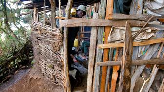 David Kibor 57 has lived in hiding in a makeshift cave dwelling for the last three years after his house in Embobut Forest was burned down