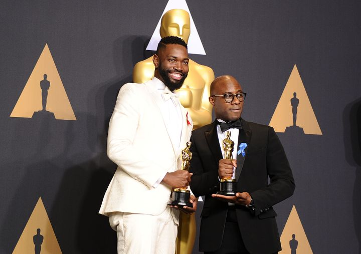 "Playwright Tarell Alvin McCraney (left) -- who wrote ""In Moonlight Black Boys Look Blue,"" which the film ""M"