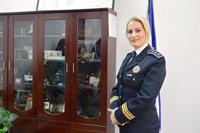 Colonel Taibe Canolli, Director of Personnel and Administration and President of the Association of Women in the Kosovo Poli