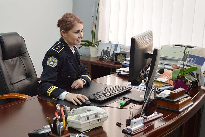 Kosovo Police Deputy Colonel Aferdita Mikullovci, Sub-regional Director for the region of South Mitrovica. Photo: UN Women K